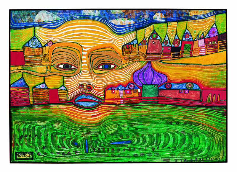 Hundertwasser 691 IRINALAND OVER THE BALKANS, 1969 © 2014 Namida AG, Glarus, Switzerland